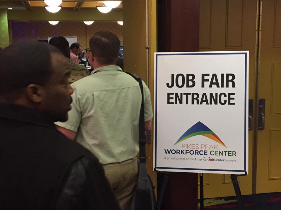 Job Fair entrance