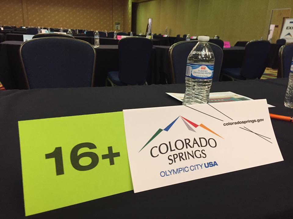 Job Fair booth placard for Colorado Springs
